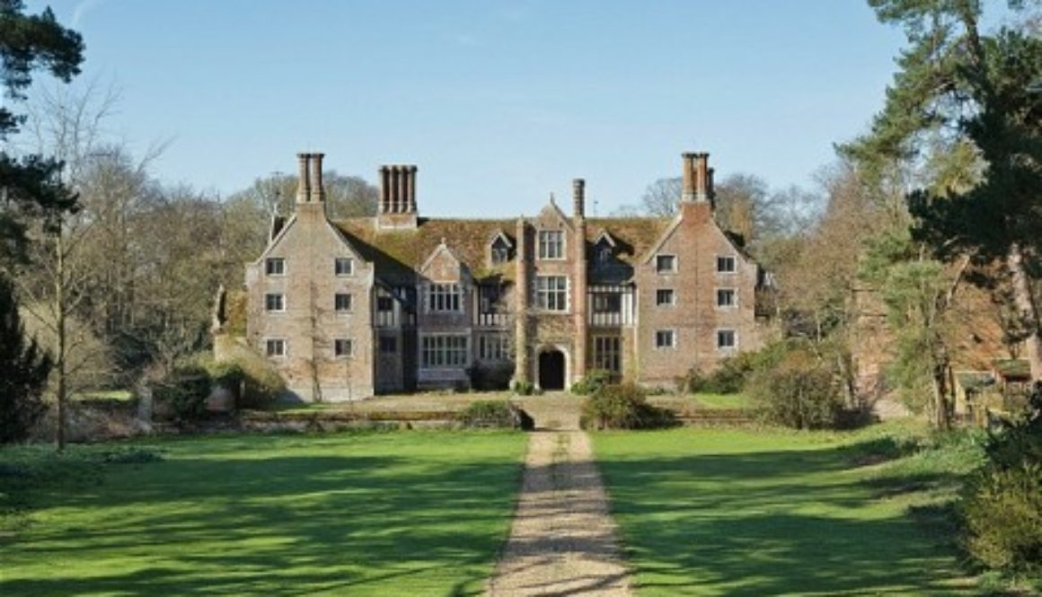 An-English-country-house-the-chimneys-suggest-Tudor-ancestry