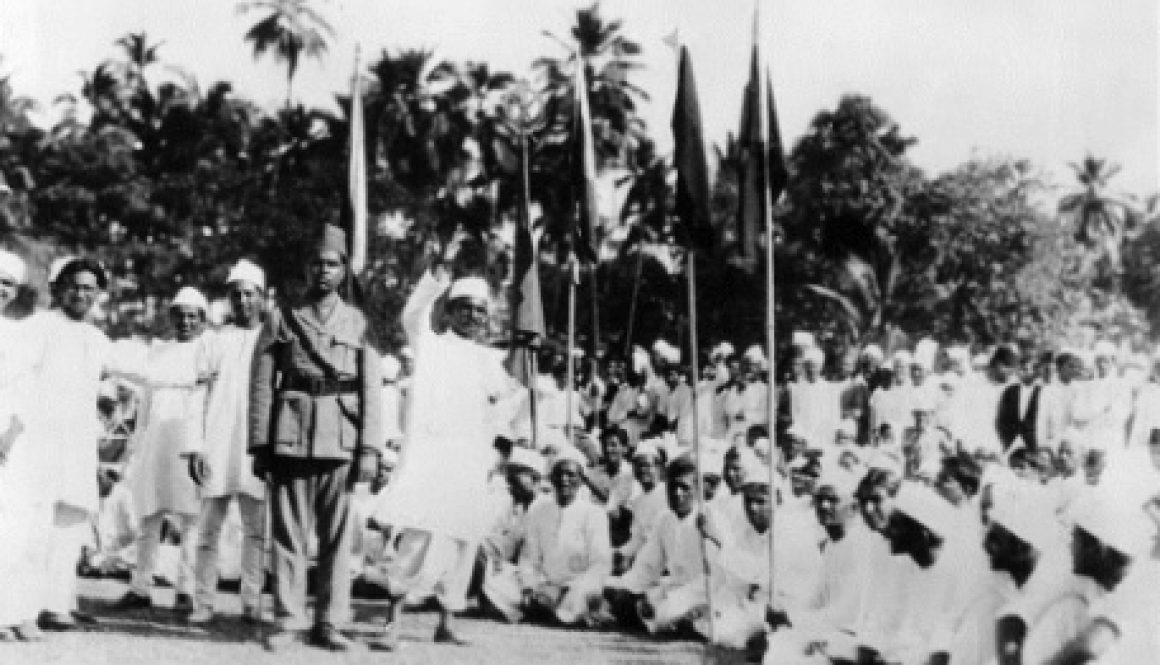 Demonstration-against-British-rule-in-India-1930s