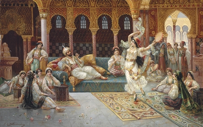 J.G. Delincourt (French, 19th-20th Century) A harem dance