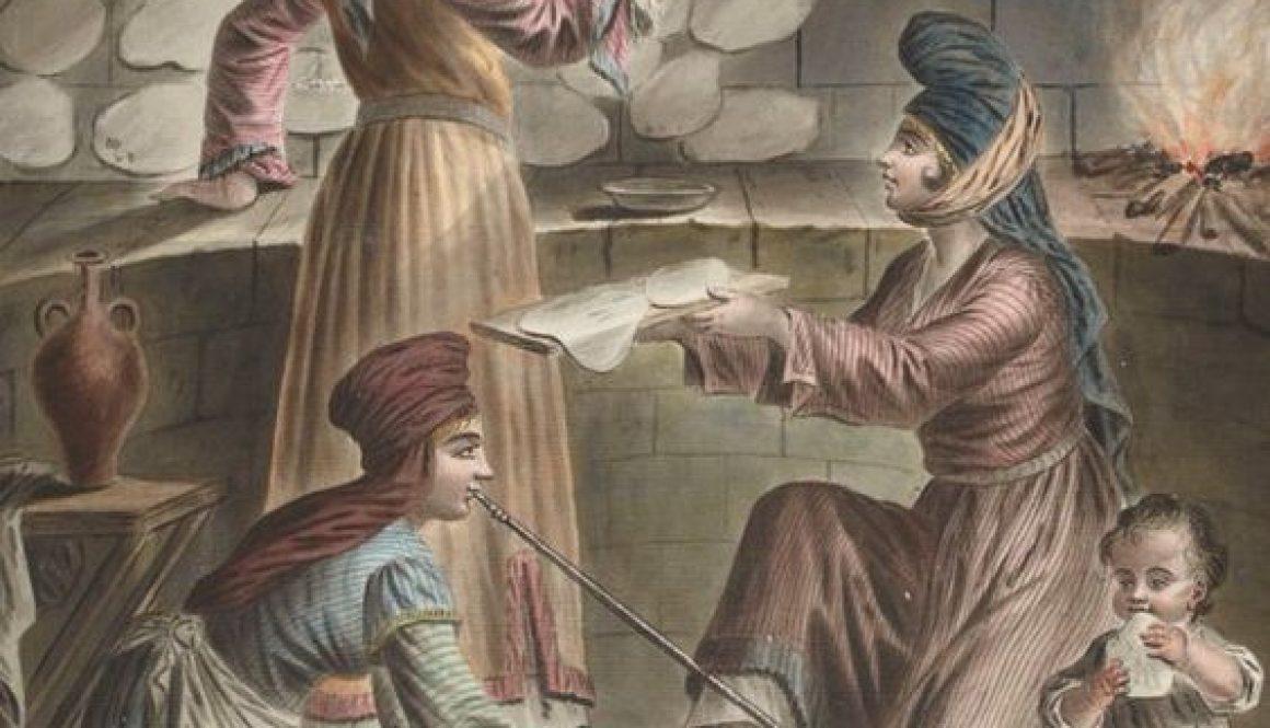 Ottoman women baking bread