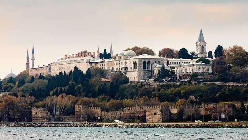 Topkapi Palace, looking across the Bosphorus