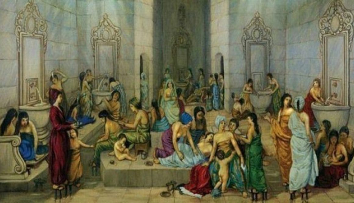 ottomen women bathing