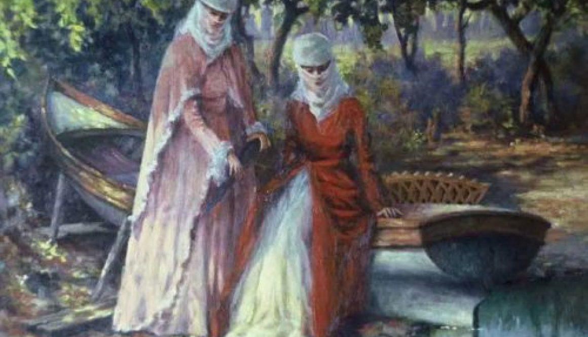 ottomen women in garden